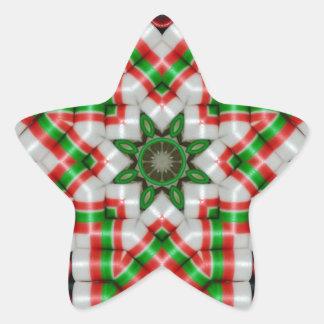 Ribbon Candy Quilt Star Dec 2012 Star Sticker