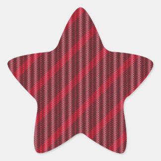 Ribbon candy star sticker