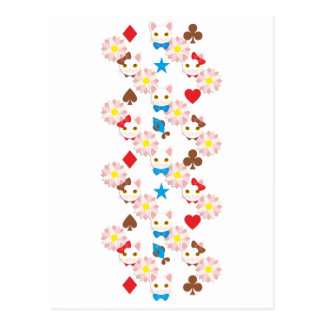 Ribbon cat and bow knot cat (Ribbon and bow tie Postcard