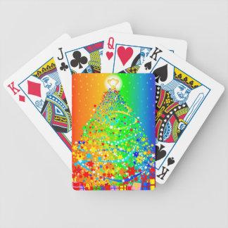 Ribbon Christmas Tree Bicycle Playing Cards