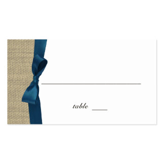 Ribbon Country Blue Place Card Pack Of Standard Business Cards