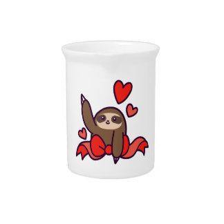 Ribbon Heart Sloth Pitcher