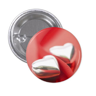 Ribbon Hearts 3 Cm Round Badge