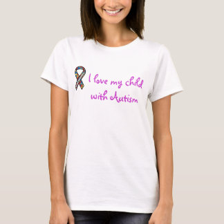 ribbon, I love my child with Autism T-Shirt