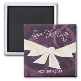 Ribbon n Roses Save the Date Magnet