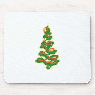 Ribbon Pine Tree Mouse Pad