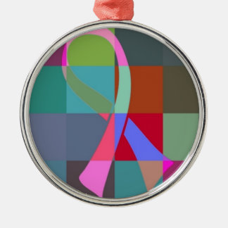 ribbon psychedelic metal ornament