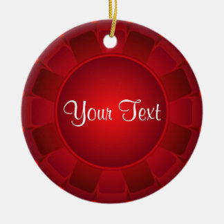 Ribbon Red Blank to Customize Round Ceramic Decoration