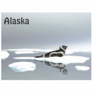 Ribbon Seal On Ice Photo Sculpture Magnet
