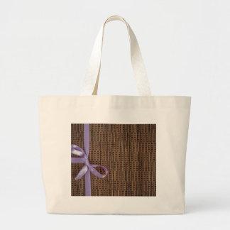 Ribbon Stripe Canvas Bag
