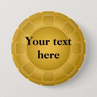 Ribbon Yellow Blank to Customize 7.5 Cm Round Badge