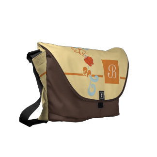 Ribbons and Butterfiles Messenger Bag