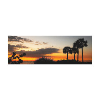 Ribbons and Palms Canvas Print