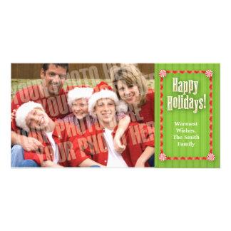 Ribbons & candy single photo card