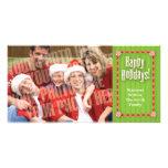 Ribbons & candy single photo photo greeting card