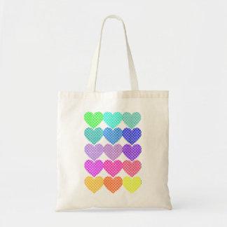 Ribbons Hearts Budget Tote Bag