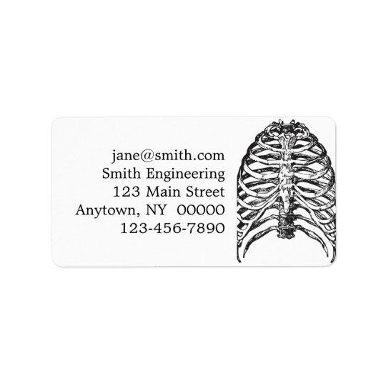 Ribs illustration - ribs art address label
