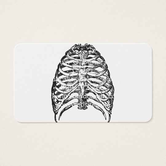 Ribs illustration - ribs art business card
