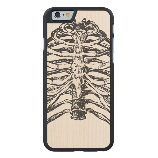 Ribs illustration - ribs art carved maple iPhone 6 case