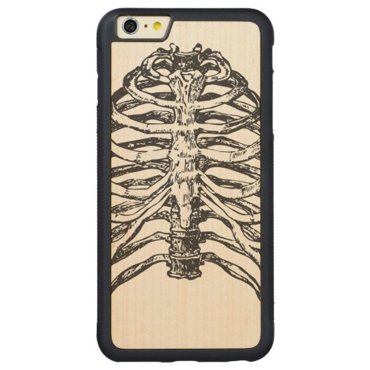 Ribs illustration - ribs art carved maple iPhone 6 plus bumper case