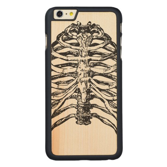 Ribs illustration - ribs art carved maple iPhone 6 plus case