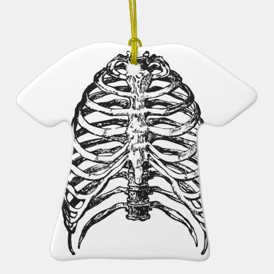 Ribs illustration - ribs art ceramic ornament