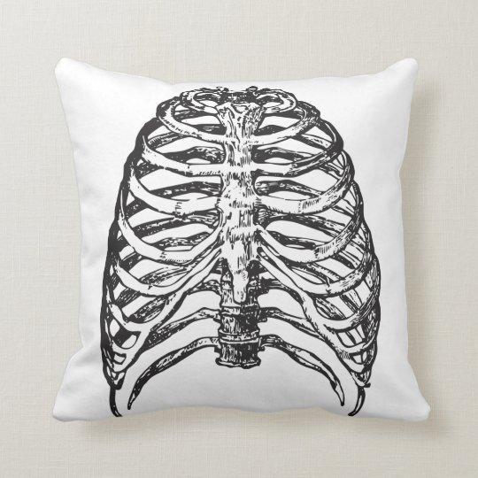 Ribs illustration - ribs art cushion