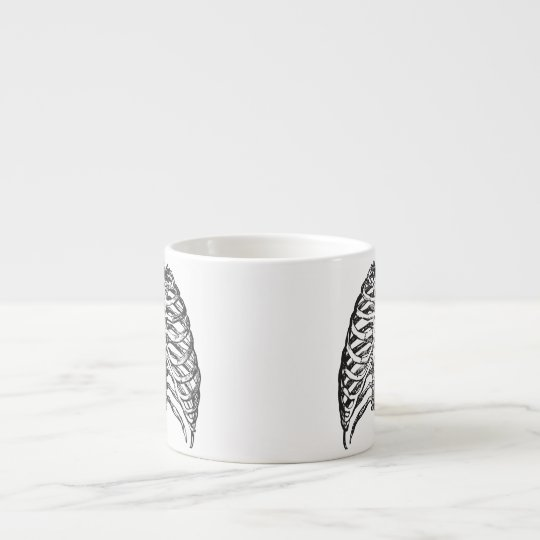 Ribs illustration - ribs art espresso cup