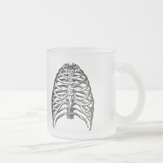 Ribs illustration - ribs art frosted glass coffee mug