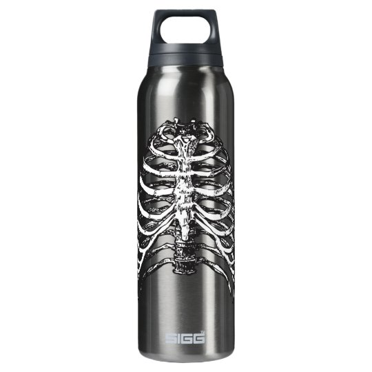 Ribs illustration - ribs art insulated water bottle