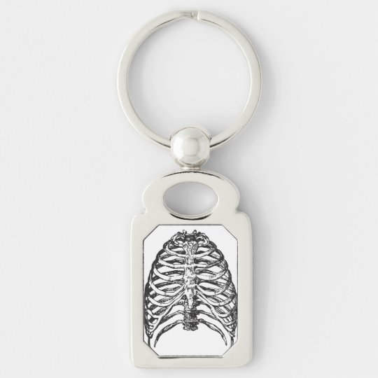 Ribs illustration - ribs art key ring
