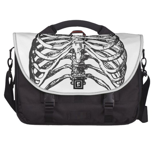 Ribs illustration - ribs art laptop commuter bag