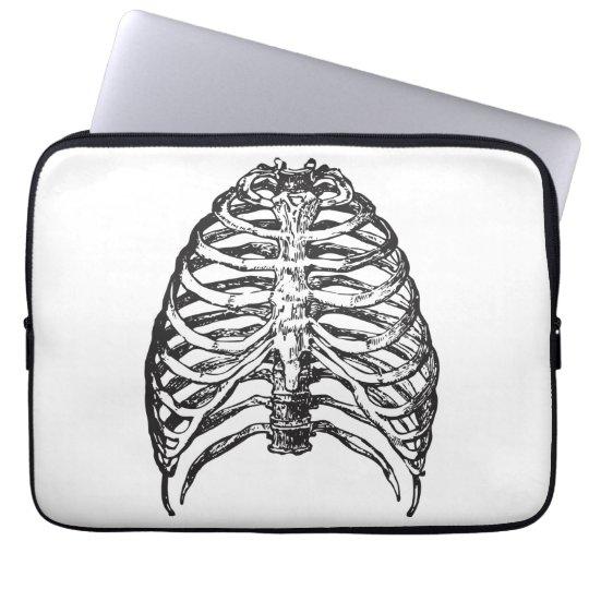 Ribs illustration - ribs art laptop sleeve