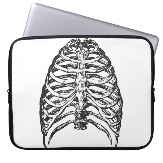 Ribs illustration - ribs art laptop sleeve