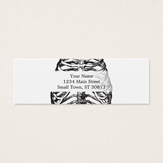 Ribs illustration - ribs art mini business card