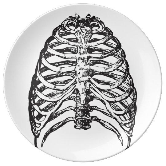 Ribs illustration - ribs art plate