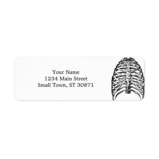 Ribs illustration - ribs art return address label