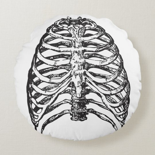 Ribs illustration - ribs art round cushion