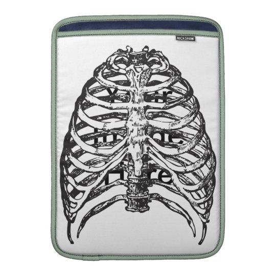 Ribs illustration - ribs art sleeve for MacBook air