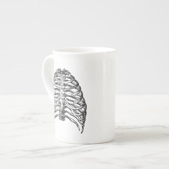 Ribs illustration - ribs art tea cup