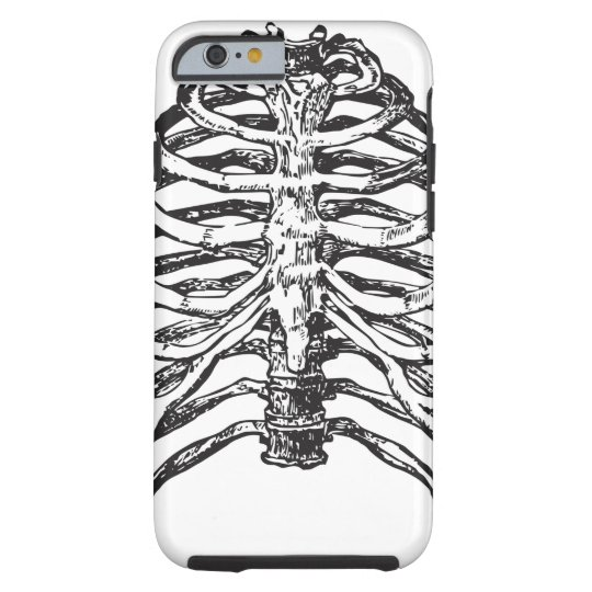 Ribs illustration - ribs art tough iPhone 6 case