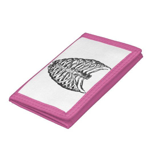 Ribs illustration - ribs art trifold wallets