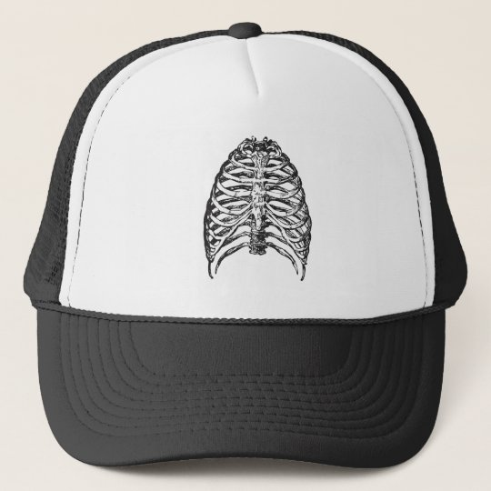 Ribs illustration - ribs art trucker hat