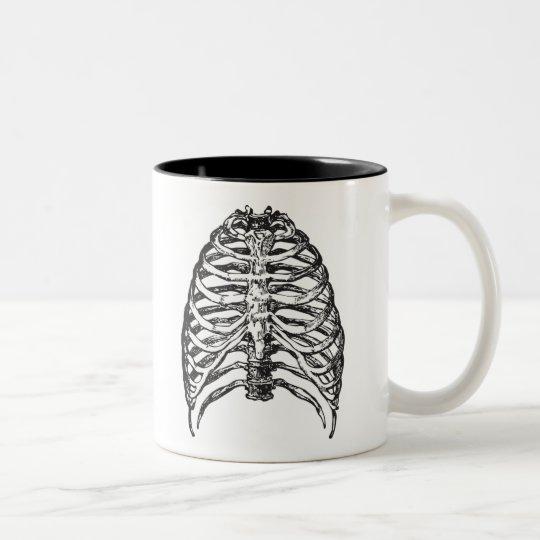 Ribs illustration - ribs art Two-Tone coffee mug