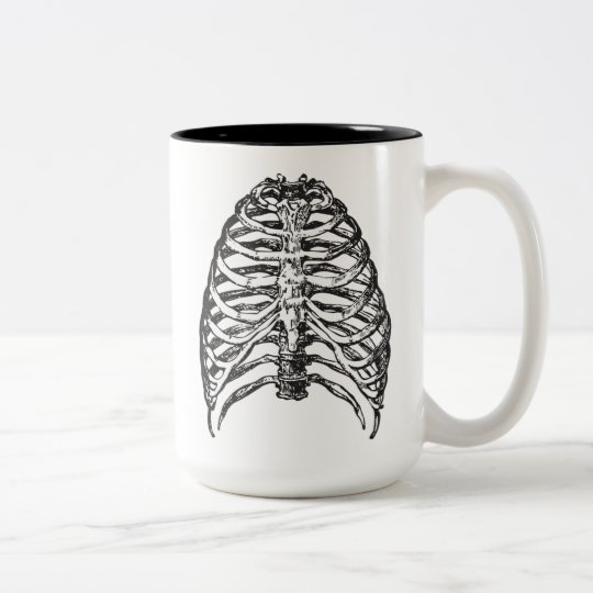 Ribs illustration - ribs art Two-Tone coffee mug