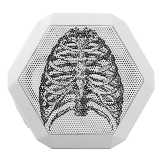 Ribs illustration - ribs art white bluetooth speaker