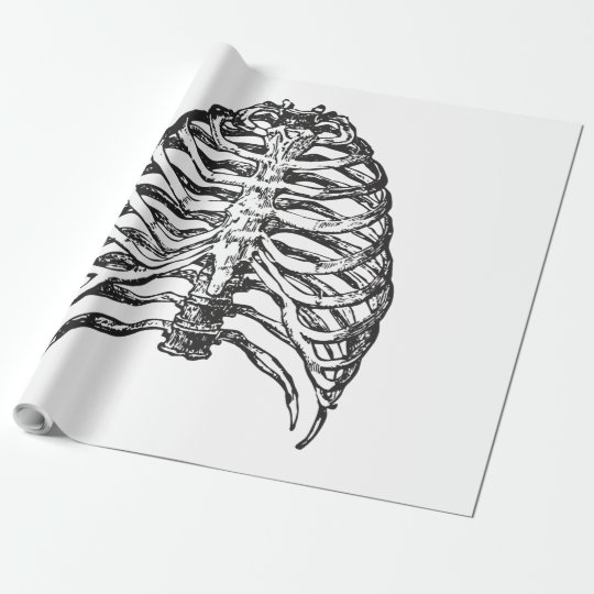 Ribs illustration - ribs art wrapping paper