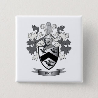 Rice Family Crest Coat of Arms 15 Cm Square Badge
