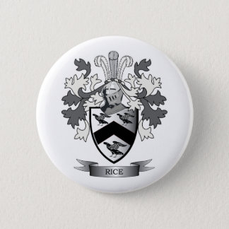 Rice Family Crest Coat of Arms 6 Cm Round Badge