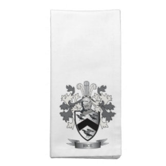 Rice Family Crest Coat of Arms Napkin